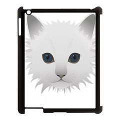 Cat Animal Pet Kitty Cats Kitten Apple Ipad 3/4 Case (black) by Sapixe