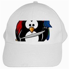 Penguin Pirate Tux Animal Bandana White Cap by Sapixe