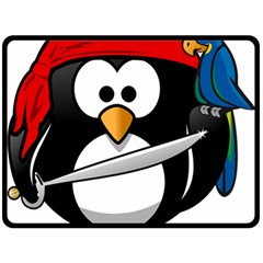 Penguin Pirate Tux Animal Bandana Fleece Blanket (large)  by Sapixe