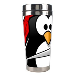 Penguin Pirate Tux Animal Bandana Stainless Steel Travel Tumblers by Sapixe