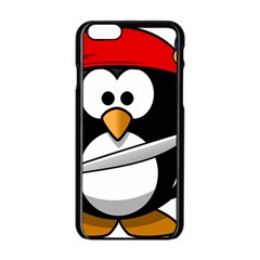 Penguin Pirate Tux Animal Bandana Apple Iphone 6/6s Black Enamel Case by Sapixe