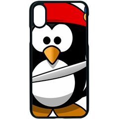 Penguin Pirate Tux Animal Bandana Apple Iphone X Seamless Case (black)