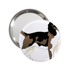 Black White Dog Beagle Pet Animal 2 25  Handbag Mirrors by Sapixe
