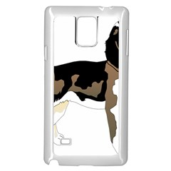 Black White Dog Beagle Pet Animal Samsung Galaxy Note 4 Case (white) by Sapixe