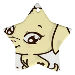 Doggy Dog Puppy Animal Pet Figure Ornament (star) by Sapixe
