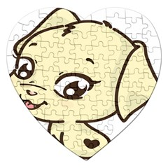 Doggy Dog Puppy Animal Pet Figure Jigsaw Puzzle (heart) by Sapixe