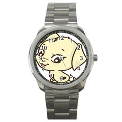 Doggy Dog Puppy Animal Pet Figure Sport Metal Watch by Sapixe