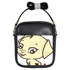 Doggy Dog Puppy Animal Pet Figure Girls Sling Bags by Sapixe