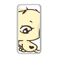 Doggy Dog Puppy Animal Pet Figure Apple Iphone 5c Seamless Case (white) by Sapixe