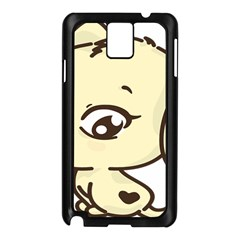 Doggy Dog Puppy Animal Pet Figure Samsung Galaxy Note 3 N9005 Case (black) by Sapixe