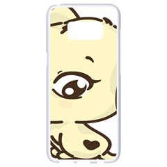 Doggy Dog Puppy Animal Pet Figure Samsung Galaxy S8 White Seamless Case