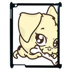 Doggy Dog Puppy Animal Pet Figure Apple Ipad 2 Case (black) by Sapixe