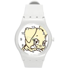 Doggy Dog Puppy Animal Pet Figure Round Plastic Sport Watch (m) by Sapixe