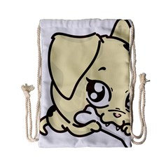 Doggy Dog Puppy Animal Pet Figure Drawstring Bag (small) by Sapixe