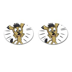 Animal Canine Cartoon Dog Pet Cufflinks (oval) by Sapixe