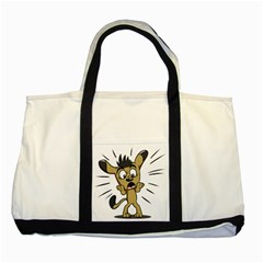Animal Canine Cartoon Dog Pet Two Tone Tote Bag