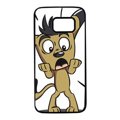 Animal Canine Cartoon Dog Pet Samsung Galaxy S7 Black Seamless Case
