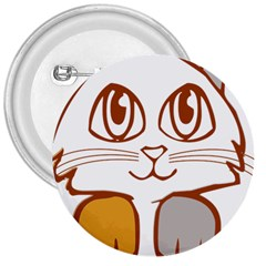 Animal Cat Feline Kitten Pet 3  Buttons
