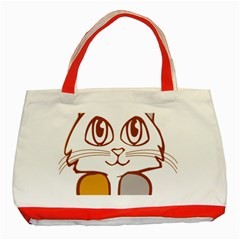 Animal Cat Feline Kitten Pet Classic Tote Bag (red) by Sapixe