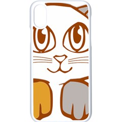 Animal Cat Feline Kitten Pet Apple Iphone X Seamless Case (white)