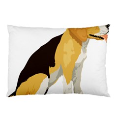 Black Yellow Dog Beagle Pet Pillow Case (two Sides) by Sapixe