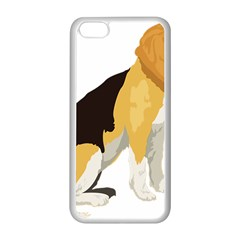 Black Yellow Dog Beagle Pet Apple Iphone 5c Seamless Case (white) by Sapixe
