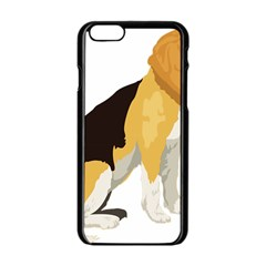 Black Yellow Dog Beagle Pet Apple Iphone 6/6s Black Enamel Case