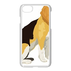 Black Yellow Dog Beagle Pet Apple Iphone 8 Seamless Case (white) by Sapixe