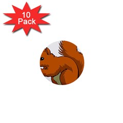 Squirrel Animal Pet 1  Mini Buttons (10 Pack)