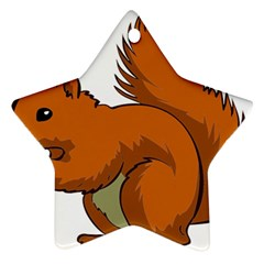 Squirrel Animal Pet Star Ornament (two Sides) by Sapixe