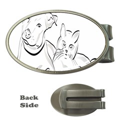 Dog Cat Pet Silhouette Animal Money Clips (oval)