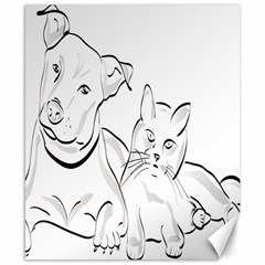 Dog Cat Pet Silhouette Animal Canvas 8  X 10  by Sapixe