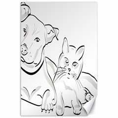 Dog Cat Pet Silhouette Animal Canvas 24  X 36