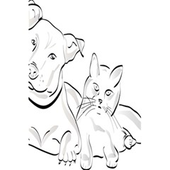 Dog Cat Pet Silhouette Animal 5 5  X 8 5  Notebooks by Sapixe