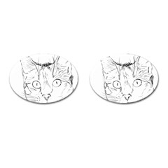 Cat Feline Animal Pet Cufflinks (oval) by Sapixe