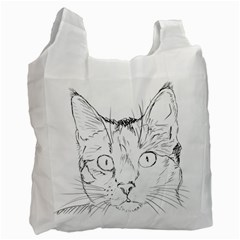 Cat Feline Animal Pet Recycle Bag (one Side) by Sapixe