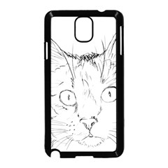 Cat Feline Animal Pet Samsung Galaxy Note 3 Neo Hardshell Case (black) by Sapixe