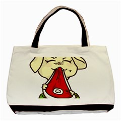 Doggy Dog Puppy Animal Pet Figure Basic Tote Bag by Sapixe
