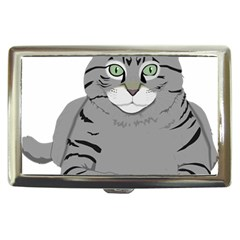 Cat Kitty Gray Tiger Tabby Pet Cigarette Money Cases