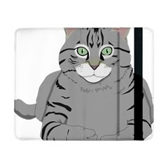 Cat Kitty Gray Tiger Tabby Pet Samsung Galaxy Tab Pro 8 4  Flip Case