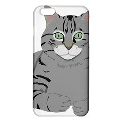 Cat Kitty Gray Tiger Tabby Pet Iphone 6 Plus/6s Plus Tpu Case by Sapixe