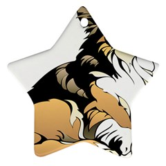 Dog Sitting Pet Collie Animal Star Ornament (two Sides) by Sapixe