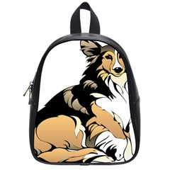 Dog Sitting Pet Collie Animal School Bag (small) by Sapixe