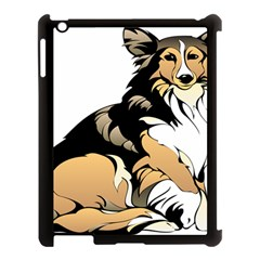 Dog Sitting Pet Collie Animal Apple Ipad 3/4 Case (black)