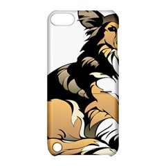 Dog Sitting Pet Collie Animal Apple Ipod Touch 5 Hardshell Case With Stand by Sapixe