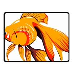 Goldfish Fish Tank Water Tropical Fleece Blanket (small)