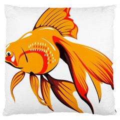 Goldfish Fish Tank Water Tropical Large Cushion Case (two Sides)