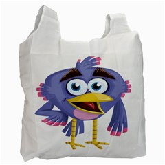 Bird Violet Beak Feather Fun Recycle Bag (one Side) by Sapixe