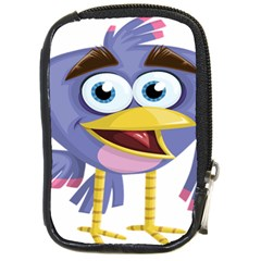 Bird Violet Beak Feather Fun Compact Camera Cases by Sapixe