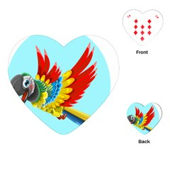 Parrot Animal Bird Wild Zoo Fauna Playing Cards (heart)  by Sapixe